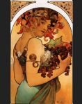 alphonse maria mucha acrylic paintings - fruit by alphonse maria mucha