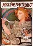 alphonse maria mucha watercolor paintings - lance parfum rodo by alphonse maria mucha
