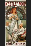 food artwork - nestles food for infants by alphonse maria mucha