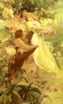 spirit of spring by alphonse maria mucha painting