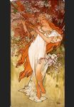 spring by alphonse maria mucha painting
