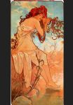 summer by alphonse maria mucha painting