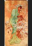 winter acrylic paintings - winter by alphonse maria mucha