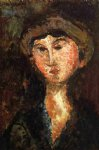amedeo modigliani art - beatrice hastings ii by amedeo modigliani