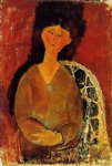 amedeo modigliani art - beatrice hastings seated by amedeo modigliani
