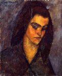 amedeo modigliani art - beggar woman by amedeo modigliani