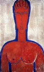 amedeo modigliani art - big red buste by amedeo modigliani