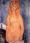 nude original paintings - blonde nude by amedeo modigliani