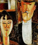 bride and groom ii by amedeo modigliani acrylic paintings