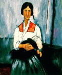 gypsy woman with baby ii by amedeo modigliani acrylic paintings