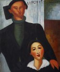 jacques and berthe lipchitz ii by amedeo modigliani acrylic paintings