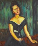 madame van muyden by amedeo modigliani acrylic paintings