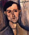amedeo modigliani watercolor paintings - man s head by amedeo modigliani