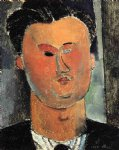 amedeo modigliani watercolor paintings - pierre reverdy by amedeo modigliani