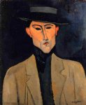 amedeo modigliani portrait of a man with hat painting-36931