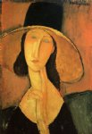 amedeo modigliani portrait of a woman with hat painting-36938
