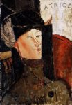 amedeo modigliani portrait of beatrice hastings ii painting-36949