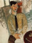 amedeo modigliani watercolor paintings - portrait of henri laurens ii by amedeo modigliani