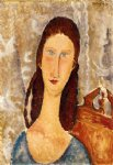 amedeo modigliani portrait of jeanne hebuterne iii painting
