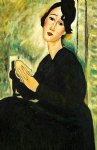 portrait of madame hayden 1918 gallery wrap by amedeo modigliani acrylic paintings