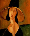 amedeo modigliani portrait of woman in hat painting