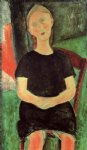amedeo modigliani seated young woman painting