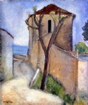 amedeo modigliani tree and houses painting-37021