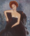 young redhead in an evening dress 1918 by amedeo modigliani acrylic paintings