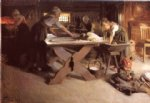 anders zorn acrylic paintings - baking the bread by anders zorn