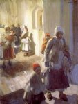 anders zorn christmas morning service painting
