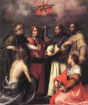 andrea del sarto acrylic paintings - disputation over the trinity by andrea del sarto