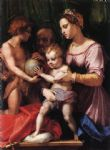 andrea del sarto acrylic paintings - holy family by andrea del sarto