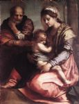 andrea del sarto acrylic paintings - holy family2 by andrea del sarto
