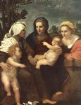 andrea del sarto acrylic paintings - madonna and child with sts catherine by andrea del sarto