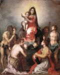 andrea del sarto acrylic paintings - madonna in glory and saints by andrea del sarto