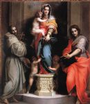 andrea del sarto acrylic paintings - madonna of the harpies by andrea del sarto