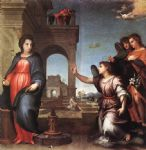 andrea del sarto acrylic paintings - the annunciation by andrea del sarto