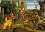 adoration of the shepherds by andrea mantegna painting