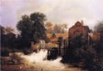 andreas achenbach original paintings - westphalian mill by andreas achenbach