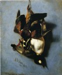 american acrylic paintings - american wood duck and golden eye by arthur fitzwilliam tait