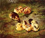 arthur fitzwilliam tait print - chickens by arthur fitzwilliam tait