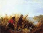 duck shooting a good shot by arthur fitzwilliam tait painting