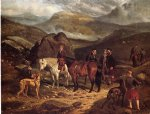 arthur fitzwilliam tait famous paintings - hunting on the scottish highlands by arthur fitzwilliam tait