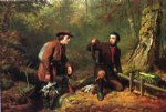 arthur fitzwilliam tait watercolor paintings - mink trapping in northern new york by arthur fitzwilliam tait