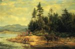 view on long lake by arthur fitzwilliam tait painting