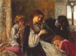 arthur hughes art - a music party by arthur hughes