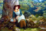 asleep in the woods by arthur hughes watercolor paintings