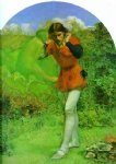 arthur hughes art - ferdinand and ariel by arthur hughes
