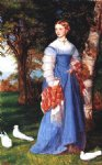 arthur hughes art - portrait of mrs. louisa jenner by arthur hughes