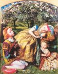 the king s orchard by arthur hughes watercolor paintings